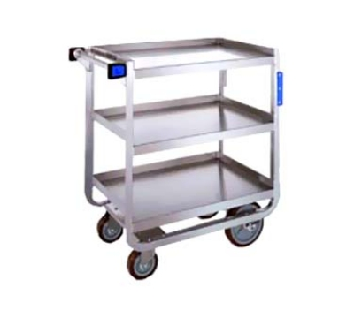 Lakeside 944 3-Level Stainless Utility Cart w/ 1000-lb Capacity, Raised Ledges