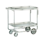 "Lakeside 743 Utility Cart w/ (2) 21 x 33"" Shelves, Angle, 700-lb, Stainless"