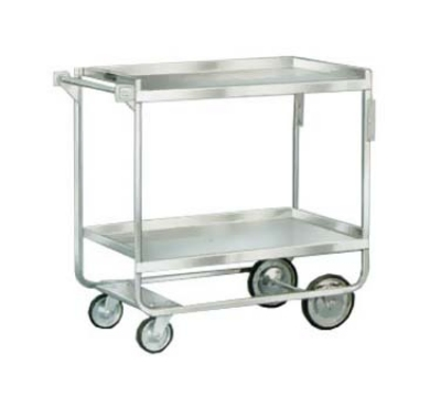Lakeside 743 2-Level Stainless Utility Cart w/ 700-lb Capacity, Raised Ledges