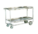 Lakeside 758 2-Level Stainless Utility Cart w/ 700-lb Capacity, Raised Ledges