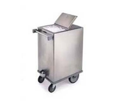 Lakeside 250 Mobile Ice Bin w/ 200-lb Capacity & Hinged Cover, Stainless