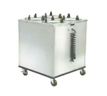 Lakeside 929 120 Mobile Heated Dish Dispenser Cabinet w/ 4-Tube, 120 V