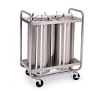 "Lakeside 786 Heated Dish Dispenser w/ 3-Self-Leveling Tubes, 7.5"", Stainless"