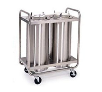 "Lakeside 773 Dish Dispenser w/ 2-Self-Leveling Tubes, 9.75"", Stainless"