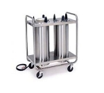 Lakeside 8211 208 2-Tube Heated Dish Dispenser w/ Self-Leveling, 12.25-