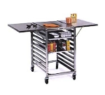 "Lakeside 110 Portable Table Wing w/ Channel Ledge for (19) 18 x 26"" Sheet Pans"