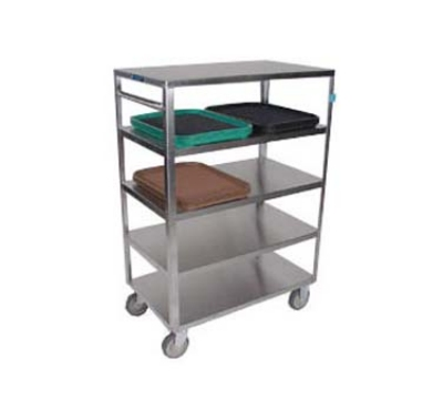 Lakeside 355 5-Level Stainless Utility Cart w/ 500-lb Capacity, Flat Ledges