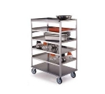 "Lakeside 464 Open Tray Truck w/ (8) 21 x 50"" Shelves & Push Handle, 500-lb"