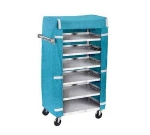 "Lakeside 438 Tray Delivery Cart w/ (6) 18-3/8 x 30.75"" Shelves, Stainless"
