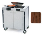 "Lakeside 2075 VCHER 40.5"" High Mobile Cooking Cart w/ 2 Induction Stove, Victorian Cherry"