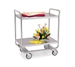 Lakeside 243 2-Shelf Utility Cart w/ Push Handles, 500-lb Capacity, Stainless