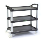 Lakeside 2512 3-Shelf Utility Cart w/ Cushion Grip Handles, 500-lb Capacity