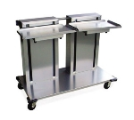 "Lakeside 2819 Mobile Double Cantilever Tray Dispenser for 15 x 20"" Trays"