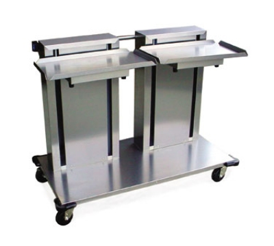 Lakeside 2820 Mobile Double Cantilever Tray Dispenser For 20 x 20-in Trays