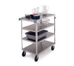 Lakeside 354 4-Level Stainless Utility Cart w/ 500-lb Capacity, Flat Ledges