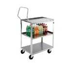 "Lakeside 4444 Open Utility Cart w/ (3) 21 x 35"" Shelves, 500-lb Capacity"