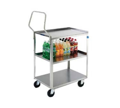 Lakeside 4322 3-Level Stainless Utility Cart w/ 300-lb Capacity, Raised Ledges