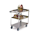 Lakeside 459 2-Level Stainless Utility Cart w/ 500-lb Capacity, Raised Ledges