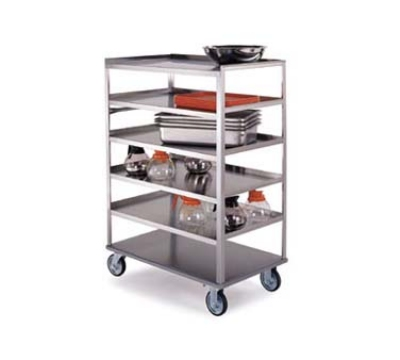 "Lakeside 448 Open Tray Truck w/ (6) 21 x 35"" Shelves & Push Handle, 500-lb"