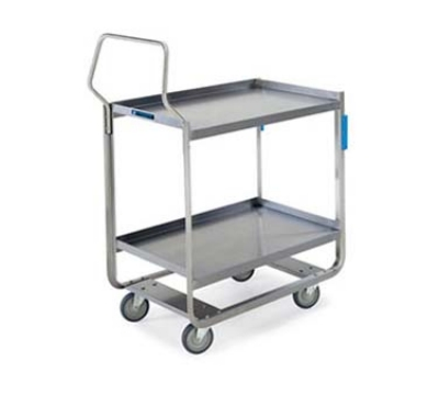 Lakeside 4958 2-Level Stainless Utility Cart w/ 1000-lb Capacity, Raised Ledges