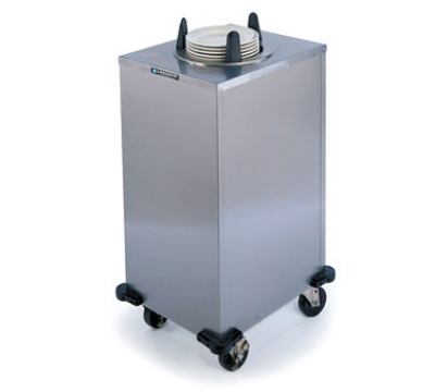 "Lakeside 6112 240 Mobile Heated Cabinet Dish Dispenser for 12"" Dish, 240 V"