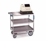 "Lakeside 522 Utility Cart w/ (3) 18 x 27"", Casters & Push Handle, 700-lb"