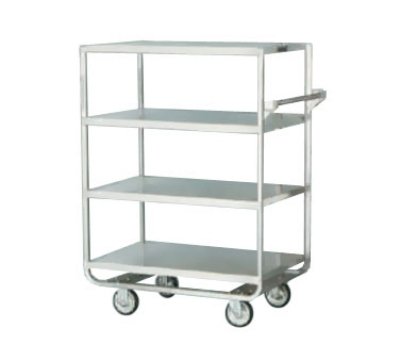 Lakeside 746 4-Level Stainless Utility Cart w/ 700-lb Capacity, Raised Ledges