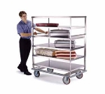 Lakeside 595 Banquet Cart w/ (5) 28 x 70-in Shelves, 1000-lb, 8-in Casters