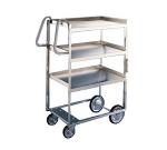 Lakeside 5910 2-Level Stainless Utility Cart w/ 700-lb Capacity, Raised Ledges