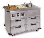 Lakeside 6745 46-in Mobile Food Station w/ 2-Dry Heat &