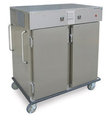 "Lakeside 6760HA 2-Compartment Chilled Ambient Transport Cart for 18 x 26"" Trays"