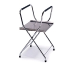 Lakeside 677 18.5-in Heavy Duty Folding Tray Stand w/ Storage Shelf