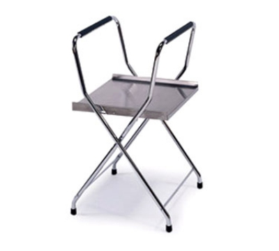 "Lakeside 677 18.5"" Heavy Duty Folding Tray Stand w/ Storage Shelf"