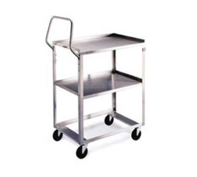 Lakeside 6810 2-Level Stainless Utility Cart w/ 500-lb Capacity, Raised Ledges