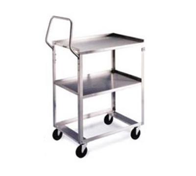 Lakeside 6810 Utility Cart w/ 2-Shelves & Push Handle, 500-lb Capacity