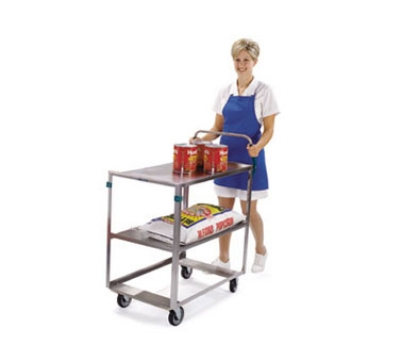 Lakeside 6820 2-Level Stainless Utility Cart w/ 500-lb Capacity, Raised Ledges
