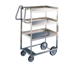 Lakeside 7120 2-Level Stainless Utility Cart w/ 1000-lb Capacity, Raised Ledges