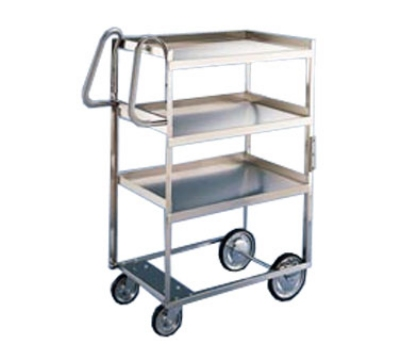 Lakeside 7010 2-Level Stainless Utility Cart w/ 700-lb Capacity, Raised Ledges