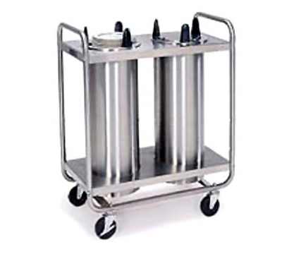Lakeside 7208 Mobile Dish Dispenser w/ 2-Self-Leveling Tubes, 8-1/8-in, Stainless