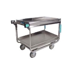 Lakeside 725 2-Level Stainless Utility Cart w/ 700-lb Capacity, Raised Ledges