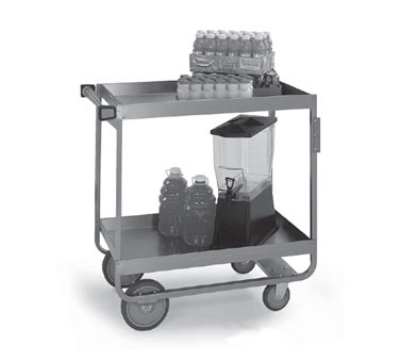 Lakeside 757 2-Level Stainless Utility Cart w/ 700-lb Capacity, Raised Ledges