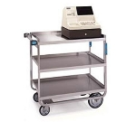 Lakeside 544 Utility Cart w/ (3) 21 x 33-in Shelves, Angle Frame, 700-lb Capacity