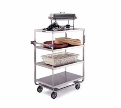Lakeside 745 Utility Cart w/ (4) 21 x 33-in Shelves, Push Handle, 700-lb