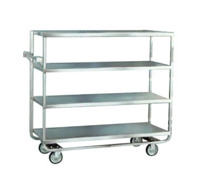 "Lakeside 761 Tray Truck w/ (4) 21 x 49"" Open Shelves & Handle, 700-lb Capacity"