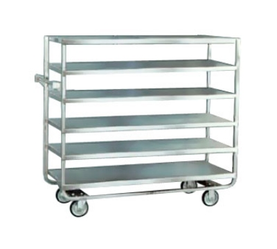 "Lakeside 763 Tray Truck w/ (6) 21 x 49"" Open Shelves & Handle, 700-lb Capacity"