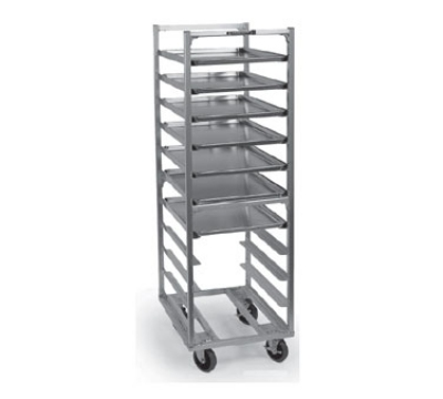 Lakeside 8522 63-in Roll-In Cooler Rack w/ Angle Ledge, 18-Trays, Aluminum