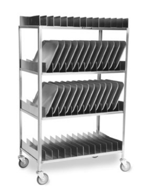 Lakeside 867 4-Shelf Tray Drying Rack w/ Removable Sections, (80) 14 x 18""