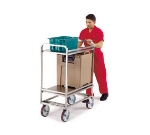 Lakeside 8840 2-Level Stainless Utility Cart w/ 1500-lb Capacity, Flat Ledges