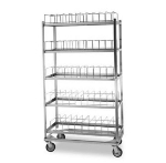 "Lakeside 897 5-Shelf Dome Drying Rack w/ (60) 9"" Dome Capacity, Stainless"