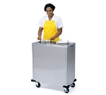 "Lakeside 905 Mobile Dish Dispenser Cabinet w/ (2) Self-Leveling Tubes, 6"""